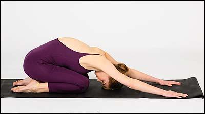 child's pose deep breathing  vocal yoga